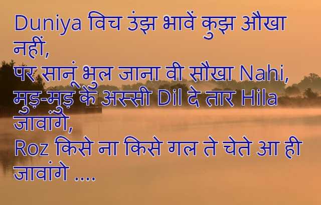 punjabi status in hindi